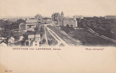 Vintage post card greetings from lawrence kansas state university vintage post card greetings from lawrence kansas state university unused m4hsunfo