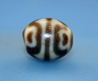 20*17 mm Antique Dzi Agate old Bead from Tibet **Free shipping**