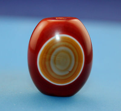 29*25 mm Antique Dzi Agate old 1 eyes Bead from Tibet **Free shipping**