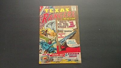 TEXAS RANGERS IN ACTION #26 Charlton Silver Age Comic 1961 GD