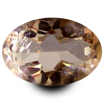 0.77 ct Exquisite Oval Shape (8 x 5 mm) Peach Pink Natural Morganite Gemstone