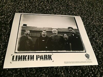 "LINKIN PARK promo only B&W 10"" x 8"" publicity photo RARE OOP Warner Bros. (2000)"