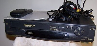 Panasonic VHS Video Cassette Recorder With Remote Control