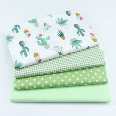 One PCS Cotton Fabric Pre-Cut cloth Fabric for Sewing Cactus D33