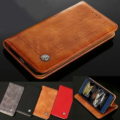 Genuine Luxury Leather case cover for Samsung S9 S8 S7 S6 Edge Plus A5 J3 2017