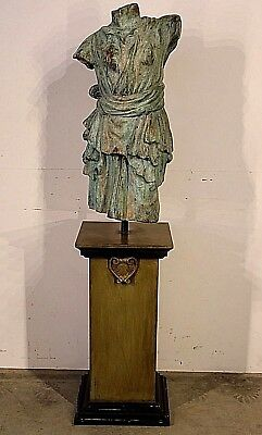 Antique bronze sculpture Diana Artemis statue ancient Roman 153cm on pedestal