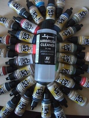 CHOOSE ANY 10 X VALLEJO MODEL AIR ACRYLIC PAINTS INCLUDES 200ml AIRBRUSH CLEANER