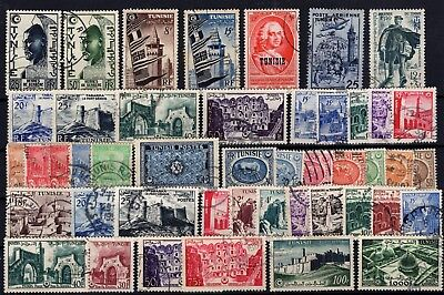 P77065/ Tunisie Française / French Tunisia / Lot 1949 - 1955 Obl / Used 124 €