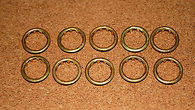10 BRASS CLOCK FACE / KEYHOLE  GROMMETS. 12mm. FOR 12mm HOLE. FREE POSTAGE!!!!!