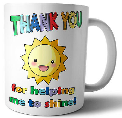 Teacher Teaching Assistant Nursery Nurse Gifts Thank You For Helping Me To Shine