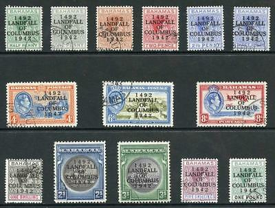 Bahamas SG162/75a 1942 Columbus set of 14 Fine Used