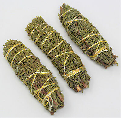 Juniper Sage Smudge Stick: 3 Wand Pack (Herb House Cleansing Negativity Removal)