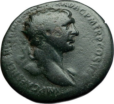 TRAJAN 103AD Rome Authentic Ancient Original Genuine Roman Coin VICTORY i70397
