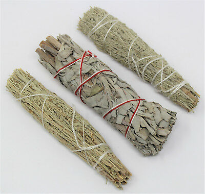 Attraction Smudge Stick Set: WHITE SAGE, LOVE & PROSPERITY 3 Pack (Cleansing)