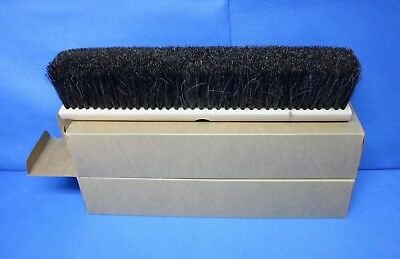 "FPI 2 each 18"" Floor Push Broom Brush Threaded Wooden Block Horsehair"