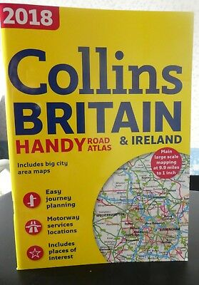 2018 Collins Britain & Ireland Handy Road Atlas A5 New/unused