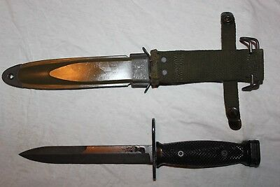 BOC M7 US Military Issue Vietnam Fighting Knife USMC Army with M8A1 Scabbard W6