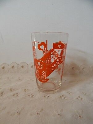 Vintage Kraft Swanky Swig Juice Glass Orange Color