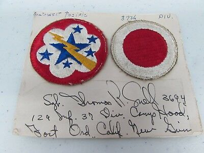 WWII U.S. Army patch Southwest Pacific & 37th Infantry named.