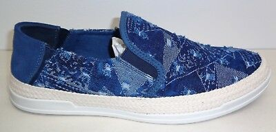 fd17f70f4f9 Steve Madden Size 10 M SEWARD Denim Fabric Suede Slip On Loafers New Mens  Shoes