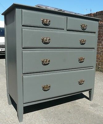 Painted Edwardian Chest Of Drawers 2 Over 3