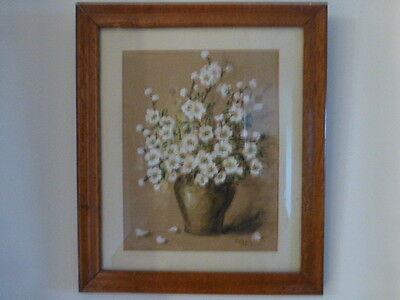 Vase of White Flowers Collectable Signed Print