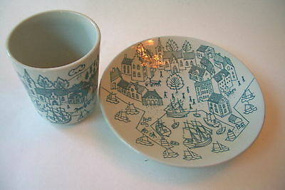 Danish Nymolle Art Faience Hoyrup Demitasse Cup And Saucer Ltd Edition