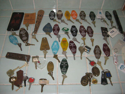 40 Vintage Hotel Motel Cruise Keys and Fobs Most California + Mexico Plaza Ritz