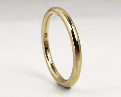 New Genuine PANDORA Smooth Band Stackable Ring 14K Gold Vermeil 190616