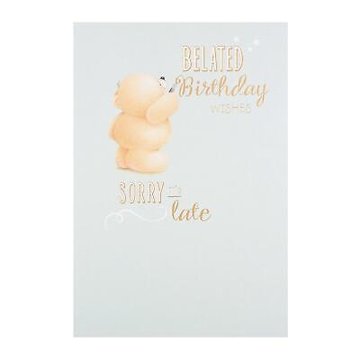 Hallmark Forever Friends Belated Birthday New Card Sorry Its Late
