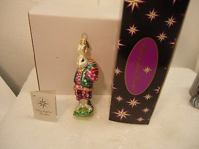 Christopher Radko ornament - Romeo Rabbit in original box, 5 1/2""