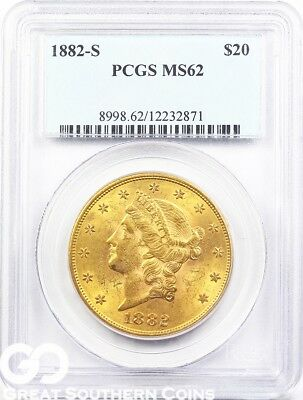 U.S. Gold, $20 Liberty Double Eagle PCGS MS 62 ** Random Dates