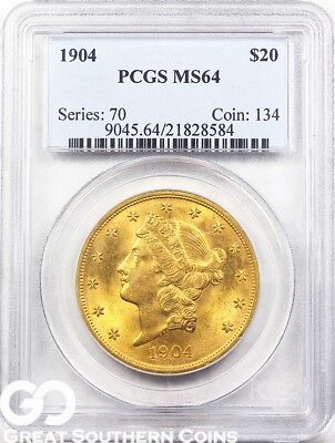 U.S. Gold, $20 Liberty Double Eagle PCGS MS 64 ** Random Dates