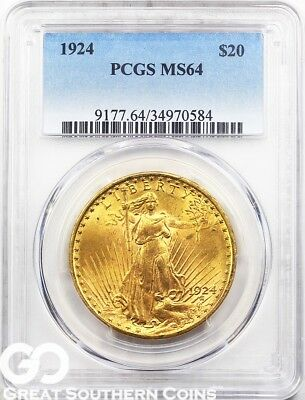 U.S. Gold, $20 St. Gaudens Double Eagle PCGS MS 64 ** Random Dates