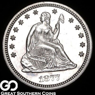 1877 Seated Liberty Quarter PROOF, Gorgeous Superb Gem PF++, Just 510 PR Made!