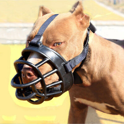 Dog Muzzle Soft Silicone Mesh Anti Bark Bite Dog Training Mouth Mask XS/S/M/L/XL