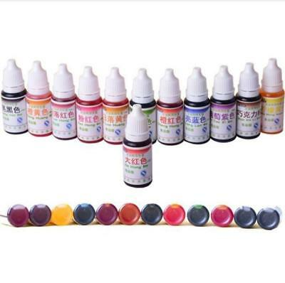 1PC 10ml Rainbow Edible Food Coloring Paint Sugarcraft Cake Pigment Decorating