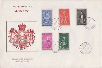 Monaco 1942 National Relief Fund set to 1f green First Day Cover.