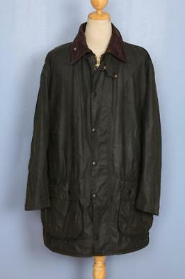 Mens BARBOUR Border Waxed Jacket Green Size 44