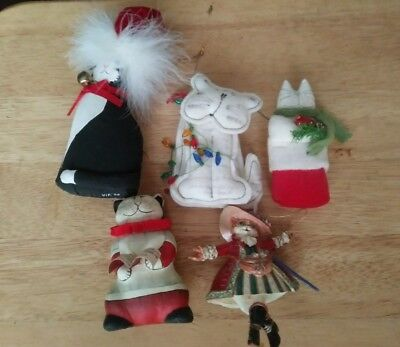 lot of unique cat christmas ornaments 5 cool cats - Cat Christmas Decorations