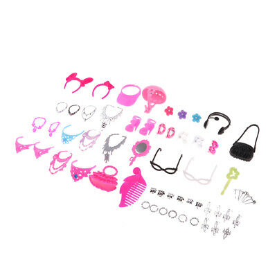 Pack Of Doll Handbag Headdress Shoes Necklace For Barbie Dolls Accessories