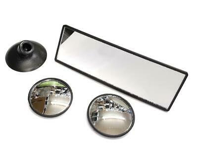 Skoda Driving Instructor Blind Spots & Rear View Convex Glass Mirror Quick Fit