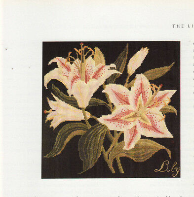 The Lily Elizabeth Bradley Flower Tapestry Needlepoint Chart in Colour