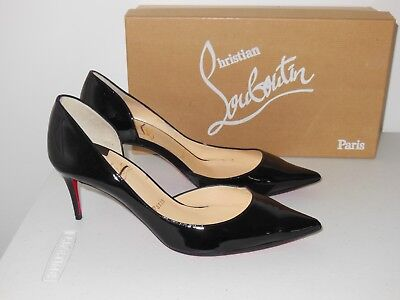 9b5459d954 Christian Louboutin Black Iriza Patent Leather D'orsay Pumps Size 36.5