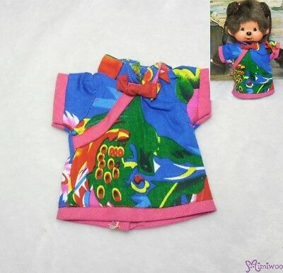 Monchhichi S Size Boutique Outfit Fashion Chinese Chi Pao Flower Dress Blue