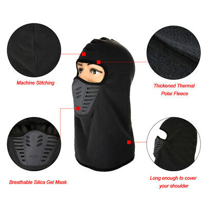 Windproof Motorcycle Winter Ski Cycling Full Face Mask Cap Hat Cover Balaclava