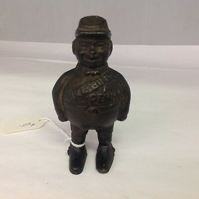 Antique Cast Iron GIVE BILLY A PENNY STILL BANK 411-