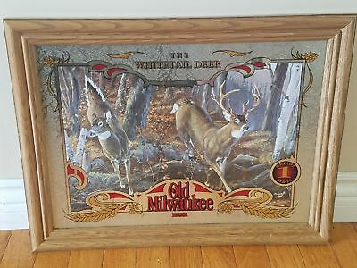 Old Milwaukee Whitetail deer mirror 1st in series NEW OLD STOCK MINT CONDITION