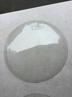 """Vintage Round Convex Glass Clock Dial Face Cover 12.25"""" Wide"""