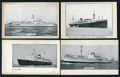 32 1930's Home-Made Postcards Of Merchant Shipping -- Bit Quaint Really !!